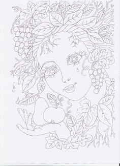 Coloring Book Pages, Coloring Pages For Kids, Embroidery Patterns, Hand Embroidery, Paper Cutting Patterns, Doodle Coloring, Spring Projects, Sharpie Art, Autumn Painting