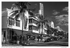 Black and White Picture/Photo: Art Deco District, Miami Beach. South Beach Miami, Miami Florida, Florida Pictures, Beach Pictures, Black And White Beach, Black And White Pictures, Photography Guide, Beach Photography, Take Better Photos