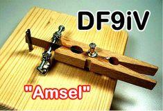 "Amsel; Morse key ""Amsel""; Clé morse type ""merle""; Selbstbau/Homebrew/Construction de DF9iV"