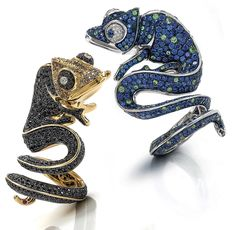 Roberto Coin's reptiles accompany butterfly and snake designs at About J in Venice.