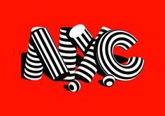 Stripe Type on Typography Served  #typography #stripes