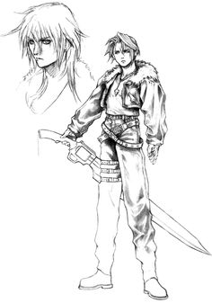 Week 8 - Final Fantasy VIII - Concept Art Mon - Squall Leonhart