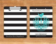 NPC National Panhellenic Conference Striped Crest by BoutiqueGreek