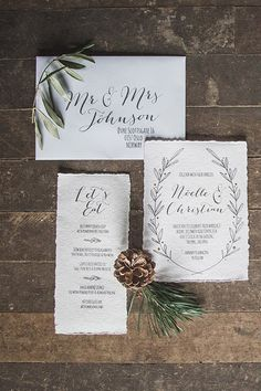 Invitations à un mariage d'hiver / winter wedding inspiration