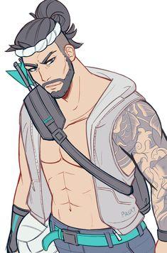 Hanzo ready for summer! Overwatch Hanzo, Overwatch Fan Art, Hanzo Dragon, Character Art, Character Design, Hanzo Shimada, Overwatch Wallpapers, Chibi, Cute Anime Guys