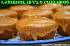 Mrs Happy Homemaker: Caramel Apple Cupcakes Using Cake mix