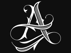 Custom A type typography lettering custom lettering hand lettering calligraphy Tattoo Lettering Styles, Chicano Lettering, Graffiti Lettering Fonts, Lettering Design, Lettering Tutorial, Tattoo Fonts Alphabet, Hand Lettering Alphabet, Alphabet Art, Calligraphy Letters