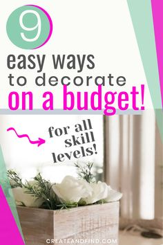 "9 ways to decorate your house on a budget - creative ideas to use what you have, repurpose your ""stuff"", DIY projects, and more fun tips to save money while still making your house gorgeous! Diy On A Budget, Decorating On A Budget, Thrifty Decor, Diy Home Decor, Diy Projects Cans, Diy Farmhouse Table, Master Bedroom Makeover, Ship Lap Walls, Creative Ideas"