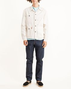 Mohawk Man | Tellason Coverall Jacket 12.5oz Selvage Denim in Natural
