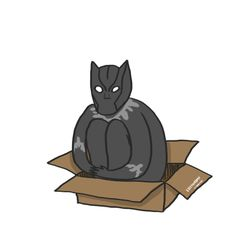 : If T'Challa fits, he sits Marvel Art, Marvel Avengers, Marvel Comics, Dc Heroes, Marvel Memes, Marvel Cinematic Universe, Black Panther, Cool Artwork, Comic Art