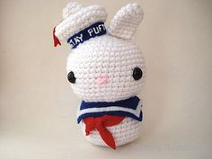 Stay Puft Marshmallow Man Moon Bun  King Sized by MoonsCreations, $50.00