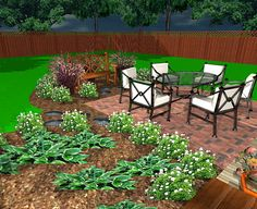 Free Garden Design Plan: Outdoor entertaining space in a weekend...