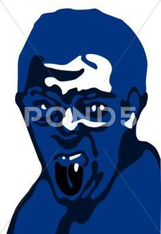 Rugby fan with tongue out Stock Illustration ~ Portrait Photo, Caricature, Rugby, Vector Free, Faces, Portraits, Illustration, Painting, Fictional Characters