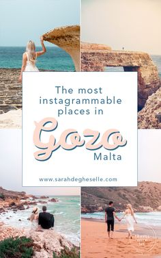 Gozo the smaller but non less impressive, sister of Malta is best known for its authenticity and beautiful landscapes. With this Photo guide you will discover all the most beautiful and photogenic locations in Gozo, Malta. Backpacking Europe, Europe Travel Guide, Travelling Europe, Budget Travel, Travel Guides, Traveling, Instagram Inspiration, Travel Inspiration, Business Inspiration