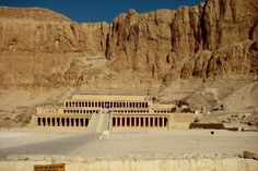 Queen Hatshepsut's Temple.  Luxor, Egypt.  A dream come true to see her temple after reading so much about her.  The history of Egypt is so rich you can actually feel it in the air.