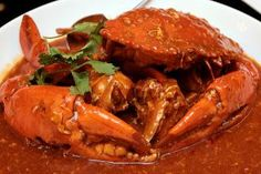 CRAB IN RED SAUCE  http://www.srilankans.com.au/sri-lankan-recipes/sea-food/sri-lankan-crab-red-sauce