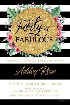65 best invitations for women birthday invitations images on 40th birthday invitation sweet affair filmwisefo