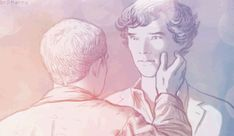 BBC Sherlock Johnlock Sherlock / John GIF kiss animation by ~br0-Harry on deviantART I know not everyone likes johnlock but I think this gif is beautiful