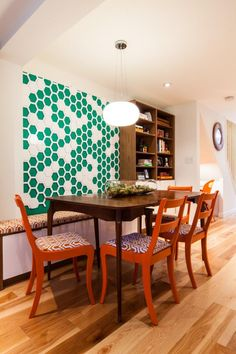 15 Ways to Dress Up Your Dining Room Walls >> http://www.hgtv.com/design-blog/design/15-dining-room-wall-decor-ideas?soc=pinterest