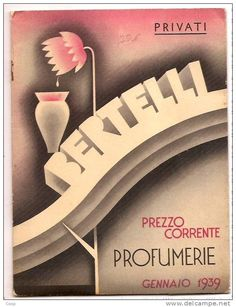 MILANO - PROFUMO - PROFUMERIE BERTELLI GENNAIO 1939 - 3 FOTO