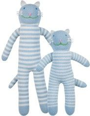 """Cloud"" the cat by bla bla, hand-knit in Peru and available at babyworks!"