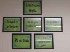 The Creative Chalkboard: Classroom Tour Pictures Galore! Framing your classroom rules! Classroom Expectations, Classroom Behavior Management, Classroom Organisation, Classroom Rules, Classroom Setup, Classroom Design, School Organization, Future Classroom, Chalkboard Classroom