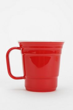 Red Cup Mug #urbanoutfitters ..my type of red solo cup (for my coffee!)!