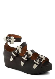 The Road to Strappiness Wedge, #ModCloth