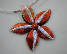 Queensland Orchid Pendant - by Cheryl Smith