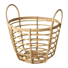 IKEA - JASSA, Basket with handles, Handmade by skilled craftspeople, which makes every product unique.Perfect for storing cushions, pads or other patio accessories.