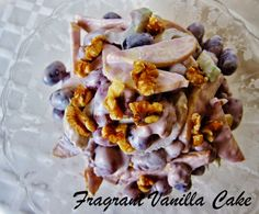 Fragrant Vanilla Cake: Raw Waldorf Salad My Way