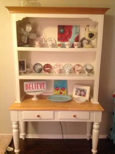 My own hutch and buffet. Small Bookshelf, Bookshelves, Bookcase, Buffet, Family Room, Home Decor, Bookcases, Decoration Home, Small Bookcase