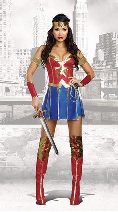 Brand New Superhero Power of Justice Women Adult Costume