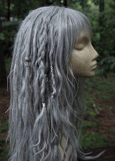 CUSTOM Dreadlock Wig * Synthetic Dreadlocks * Dreadlock Extensions * Single Ended Dreads * Double Ended Dreads * Dreadlock Beads * Pastel * by SisterSarahsShop on Etsy https://www.etsy.com/listing/522453200/custom-dreadlock-wig-synthetic