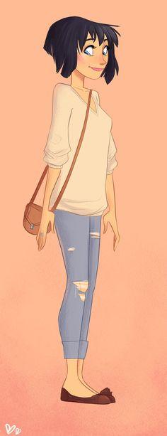 Cute Pretty Girl Illustration / Ragazza dolce e carina, illustrazione - Art by pireh on deviantART