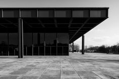 Neue Nationalgalerie Kulturforum/ Museum for Modern Art. Berlin.  Ludwig Mies van der Rohe 1968.