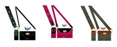 Three of the more than 12 designs in our line of pocket books for those that wear a cross body product.