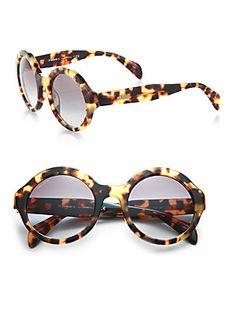 Prada Plastic+Round+Sunglasses