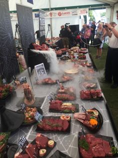The British display for 2014 Tri-nations butchery challenge which I captained. World Famous, Challenge, British, Display, Floor Space, Billboard