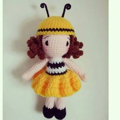 Amigurumi Bee Girl : 1000+ images about Ape on Pinterest Crochet bee, Bumble ...