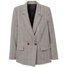 MANGO Check Structured blazer ($100) ❤ liked on Polyvore featuring outerwear, jackets, blazers, coats, red, long sleeve blazer, red blazer jacket, mango blazer, red white jacket and checkered blazer