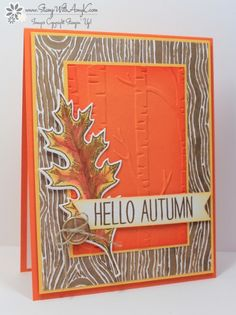 Stampin' Up! Vintage Leaves in Fall Colors