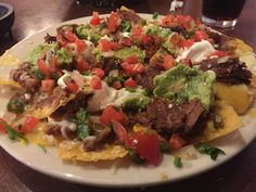 Review of beef nachos from Cocina Baez in Eugene, Oregon