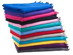 "Eshma Mardini Luxury Turkish Cotton Bath Towel Ultra Absorbent and Soft 73"" x 35.5"" - Eggplant - $17.95"