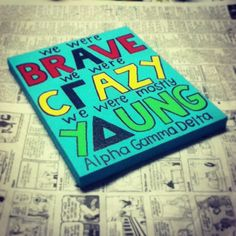 We were brave, we were crazy, we were mostly young ♥ ..... omg kenny chesney and agd this is perfect.