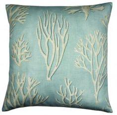 Cushion-aqua-coral from The Nautical Company