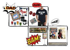 """Dad: A Child's First Superhero"" by mallorydiann ❤ liked on Polyvore featuring Lamp-In-A-Box"