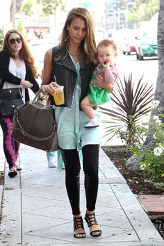 Jessica Alba Leaving Le Pain Cafe in West Hollywood after having breakfast 8-26-2012