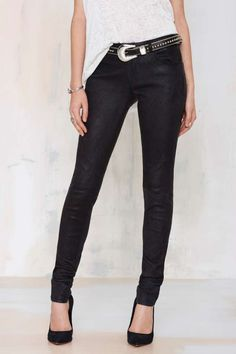 Just Female Used Leather Skinny Trouser - Pants | Leather | All |  | Pants