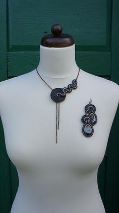 modern soutache necklace
